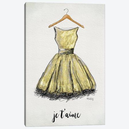 Je T'aime Dress Canvas Print #HKZ11} by Heidi Kuntz Canvas Wall Art