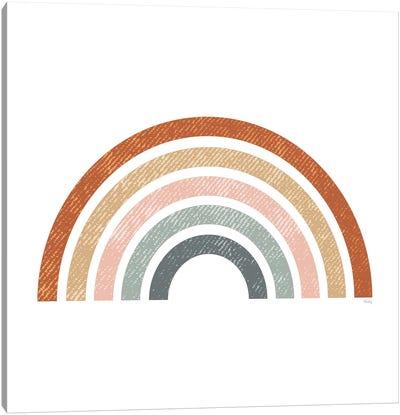 Rustic Rainbow Canvas Art Print