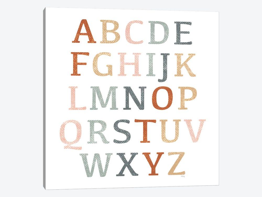 Rustic Rainbow Alphabet by Heidi Kuntz 1-piece Canvas Art Print