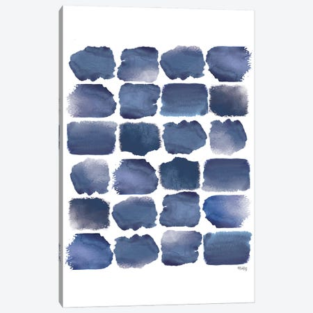 Watercolor Strokes Blue I Canvas Print #HKZ4} by Heidi Kuntz Canvas Print