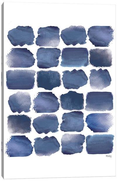 Watercolor Strokes Blue I Canvas Art Print