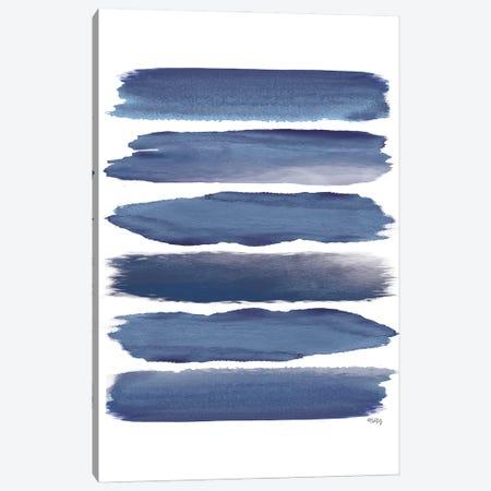 Watercolor Strokes Blue II Canvas Print #HKZ5} by Heidi Kuntz Canvas Art Print
