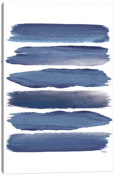 Watercolor Strokes Blue II Canvas Art Print