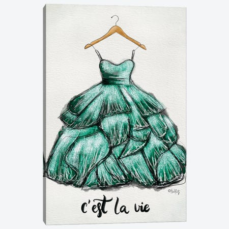 C'est La Vie Dress Canvas Print #HKZ7} by Heidi Kuntz Canvas Art Print