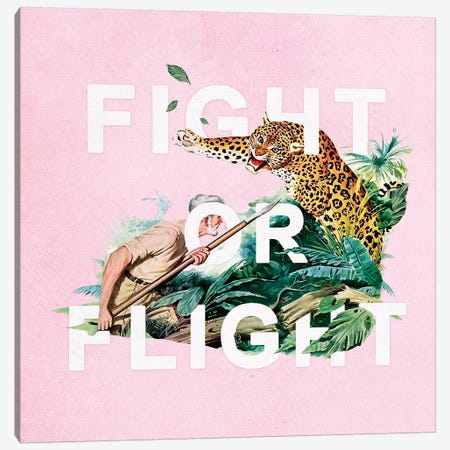 Fight Or Flight 3-Piece Canvas #HLA10} by Heather Landis Canvas Artwork