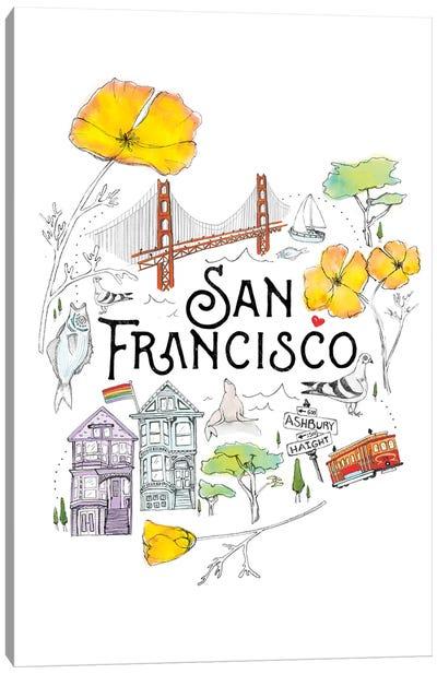 Friends & Neighbors, San Francisco Canvas Art Print