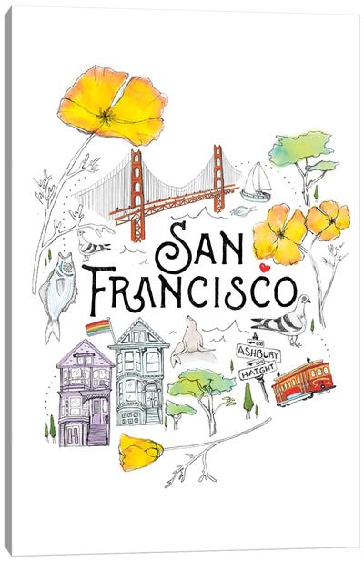 Friends & Neighbors, San Francisco Canvas Art Print