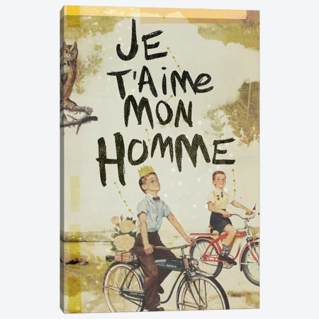Je T'aime Homme Canvas Print #HLA17} by Heather Landis Canvas Art Print