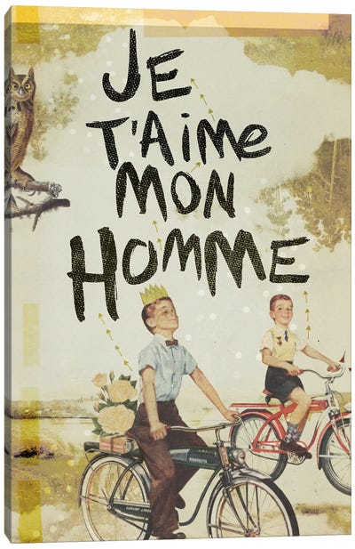 Je T'aime Homme Canvas Art Print