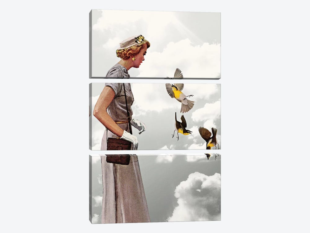 Lady In Gray by Heather Landis 3-piece Canvas Art