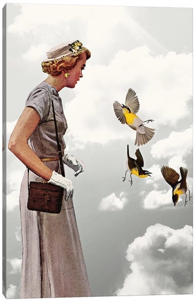 Lady In Gray Canvas Art Print