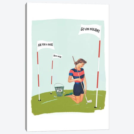 Life Golf Goals 3-Piece Canvas #HLA21} by Heather Landis Canvas Print