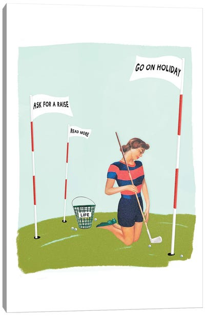 Life Golf Goals Canvas Art Print