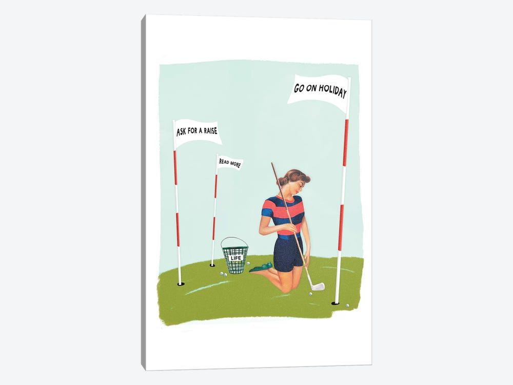 Life Golf Goals by Heather Landis 1-piece Art Print