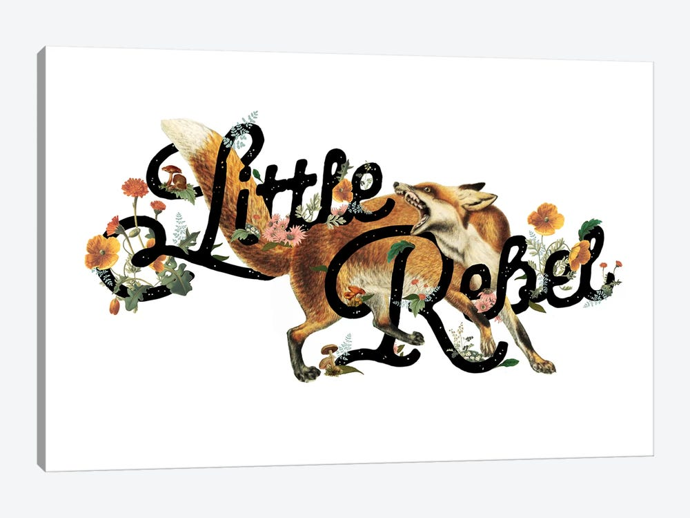 Little Rebel Fox by Heather Landis 1-piece Canvas Art