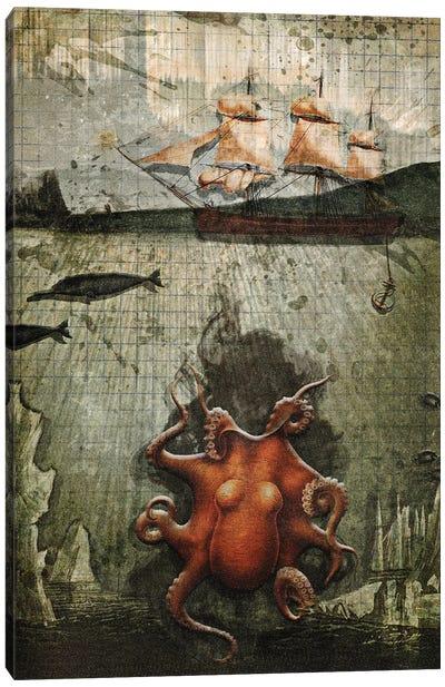 Paper Octopus Canvas Art Print