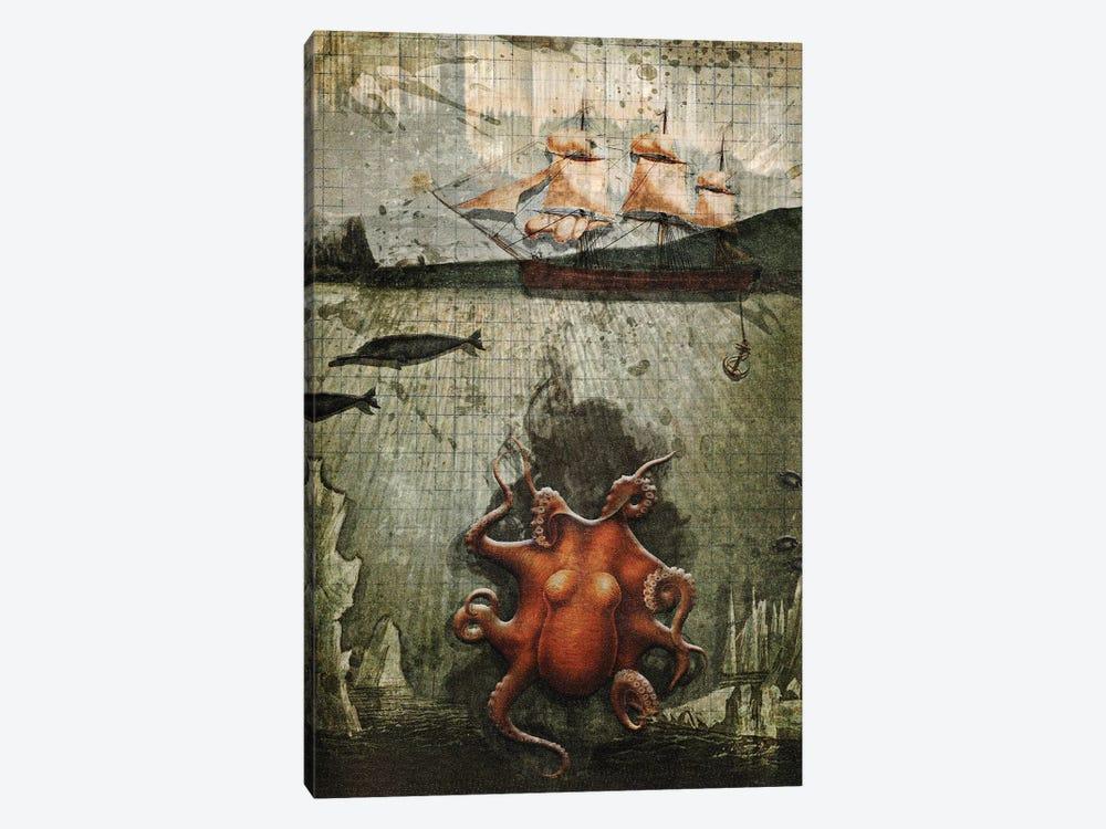 Paper Octopus by Heather Landis 1-piece Canvas Artwork