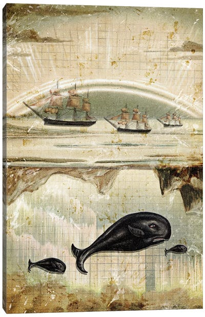 Paper Whale Canvas Art Print