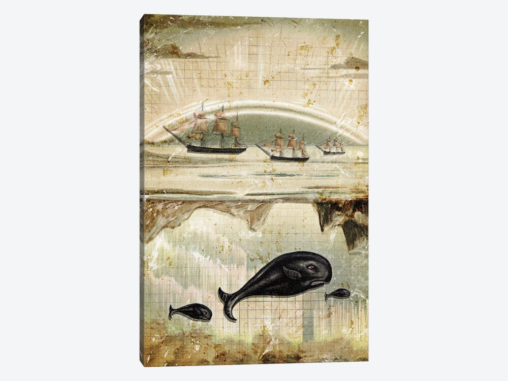 Paper Whale by Heather Landis 1-piece Art Print