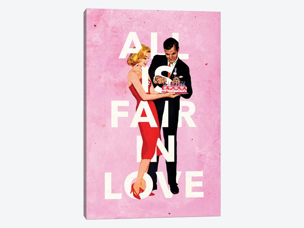 All Is Fair In Love by Heather Landis 1-piece Canvas Print