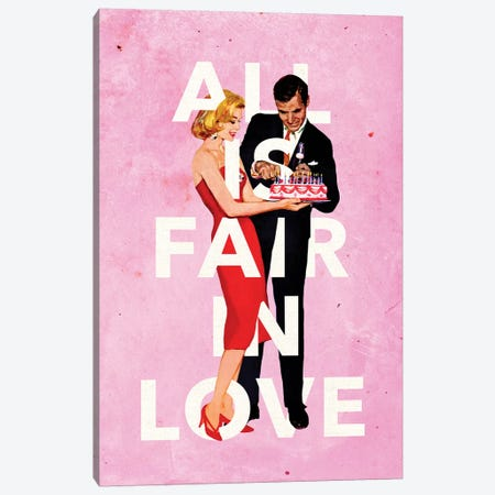 All Is Fair In Love Canvas Print #HLA2} by Heather Landis Canvas Print