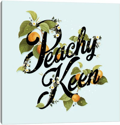Peachy Keen Mint Canvas Art Print