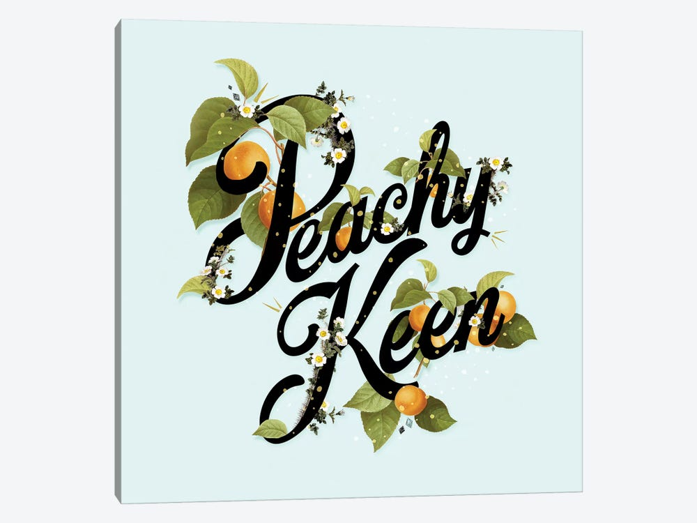 Peachy Keen Mint by Heather Landis 1-piece Art Print