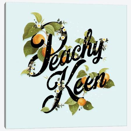 Peachy Keen Mint Canvas Print #HLA30} by Heather Landis Canvas Wall Art