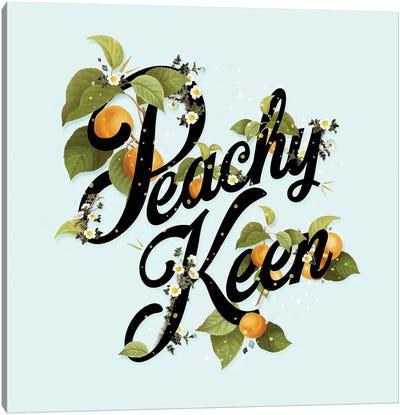Peachy Keen Mint Canvas Art Print