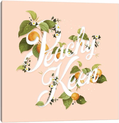 Peachy Keen Peach Canvas Art Print