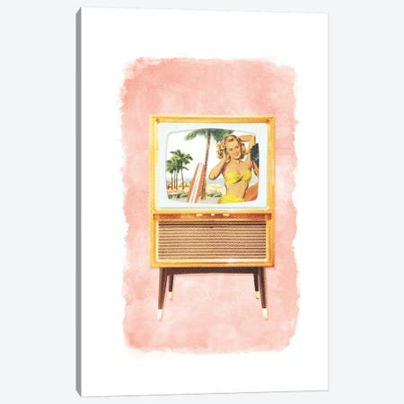 Racked TV Canvas Print #HLA35} by Heather Landis Art Print