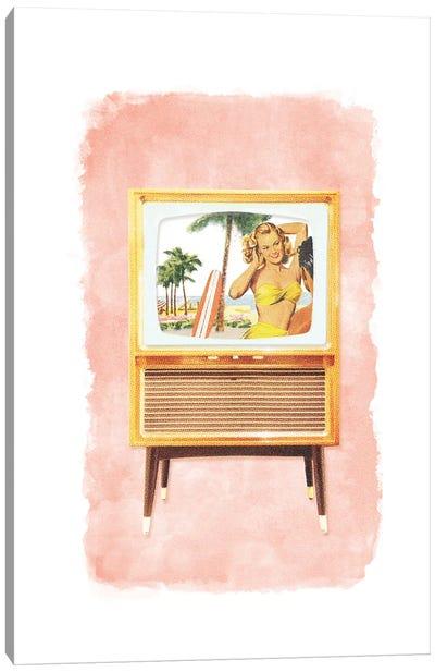 Racked TV Canvas Art Print