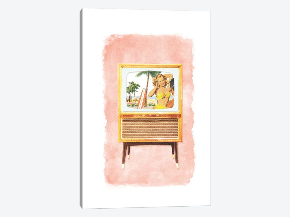 Racked TV by Heather Landis 1-piece Canvas Wall Art