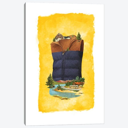 Racked Vest Canvas Print #HLA36} by Heather Landis Art Print