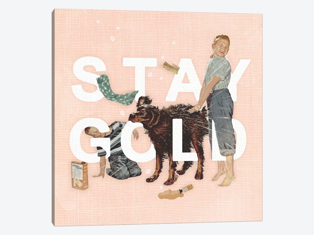 Stay Gold 1-piece Canvas Wall Art