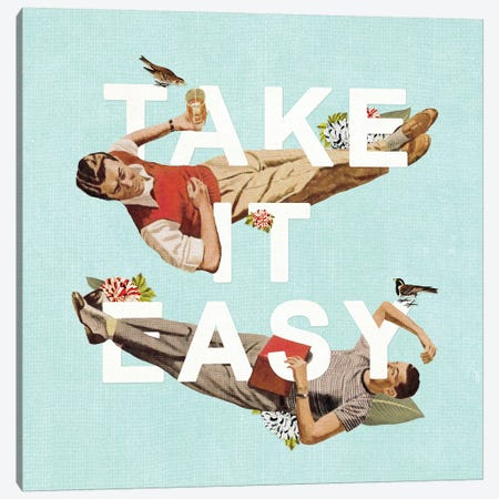 Take It Easy Canvas Print #HLA40} by Heather Landis Art Print