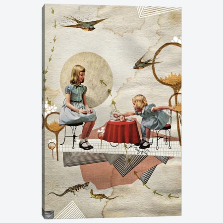 Tea Time Canvas Print #HLA41} by Heather Landis Canvas Art Print