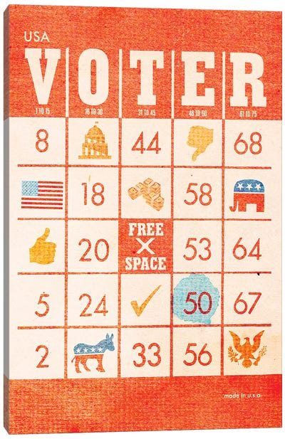 Voter Bingo Canvas Art Print