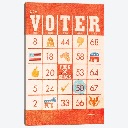 Voter Bingo Canvas Print #HLA44} by Heather Landis Canvas Wall Art