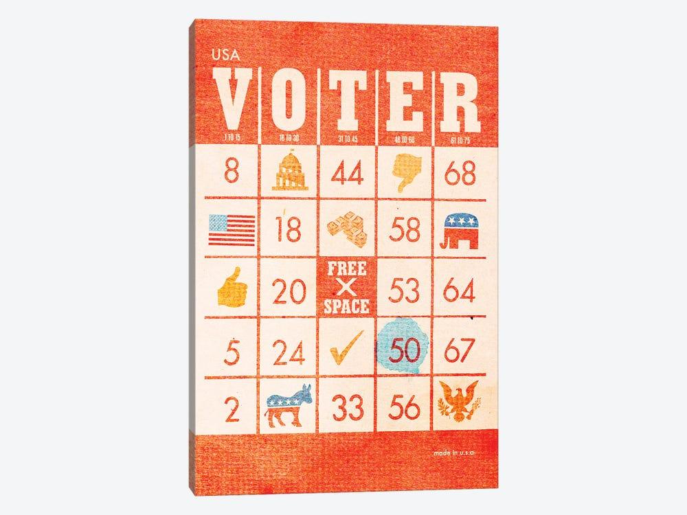 Voter Bingo by Heather Landis 1-piece Canvas Artwork