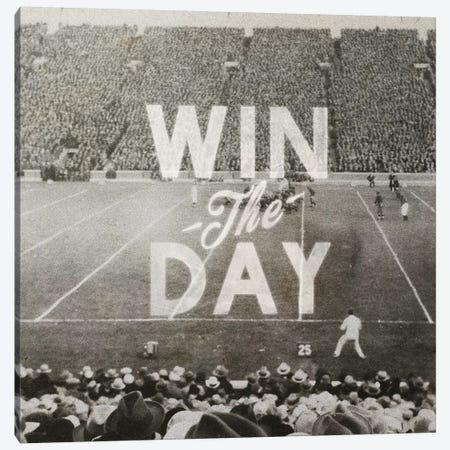 Win The Day Canvas Print #HLA45} by Heather Landis Canvas Wall Art