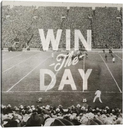 Win The Day Canvas Art Print