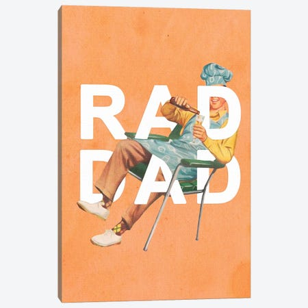 Rad Dad Canvas Print #HLA49} by Heather Landis Canvas Art Print