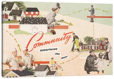 Community Canvas Art Print