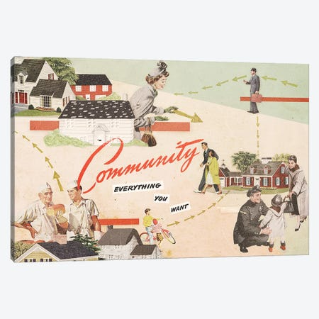 Community Canvas Print #HLA7} by Heather Landis Canvas Artwork