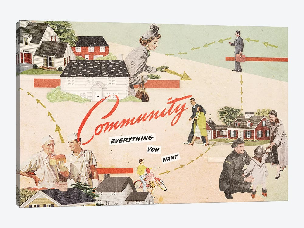 Community by Heather Landis 1-piece Canvas Art