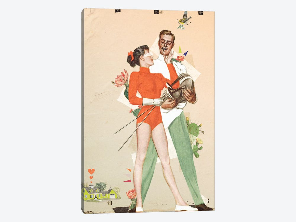 Couple Situation by Heather Landis 1-piece Canvas Art Print