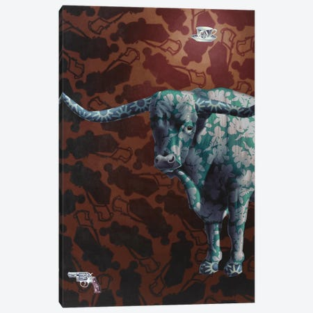 Rumble Canvas Print #HLL23} by Stephen Hall Canvas Art