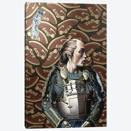 The Lost Samurai Canvas Print #HLL25} by Stephen Hall Art Print
