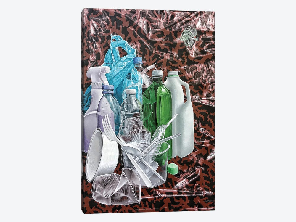 Fat Free Ocean by Stephen Hall 1-piece Canvas Wall Art
